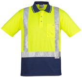 CDZH233 Hi Viz Spliced Polo - Copy Direct
