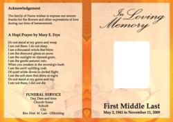 Funeral Programs Copy Direct Digital Print Specialists