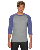 CDA6755 New Adult Tri-Blend 3/4 Sleeve Raglan Tee - Copy Direct