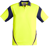 CDZH248 Mens Hi Vis Aztec Polo - Short Sleeve