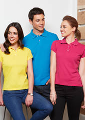 Mens-Ladies Neon Slim Polo