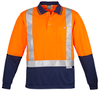 CDZH234 Hi Vis Spliced Polo - Long Sleeve Shoulder Taped